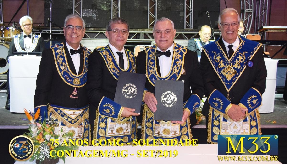 SOLENIDADE DOS 75 ANOS DO GRANDE ORIENTE DE MINAS GERAIS - GOMG - SET/2019 PARTE 03