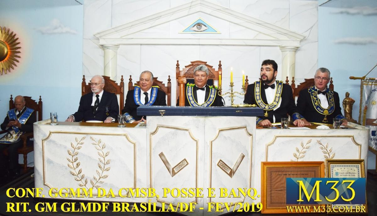 Conferência GGMM CMSB, Posse e Banquete Ritualístico GM GLMDF Fev 2019 Part3