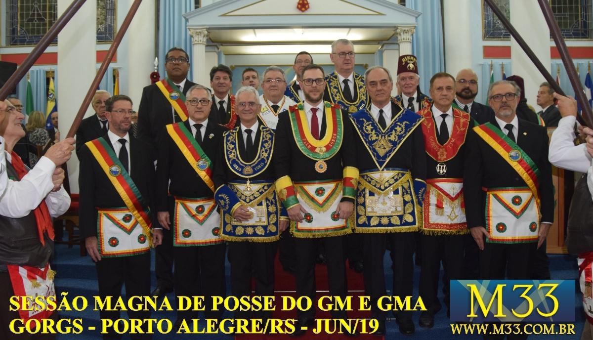 SESSÃO MAGNA DE POSSE DO GRÃO-MESTRE E GRÃO-MESTRE ADJUNTO GORGS - PORTO ALEGRE/RS - JUN/2019 PARTE 1