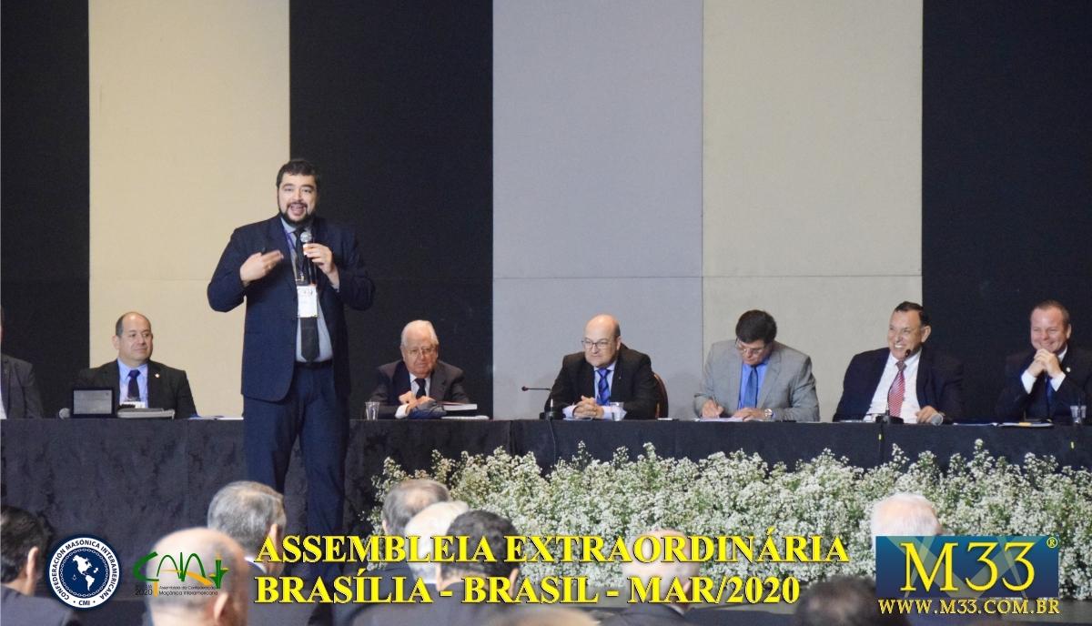 Assembleia Extraordinária da Confederação Maçônica Interamericana CMI Brasília Brasil - Março 2020 Parte 10 Palestras e Tratados