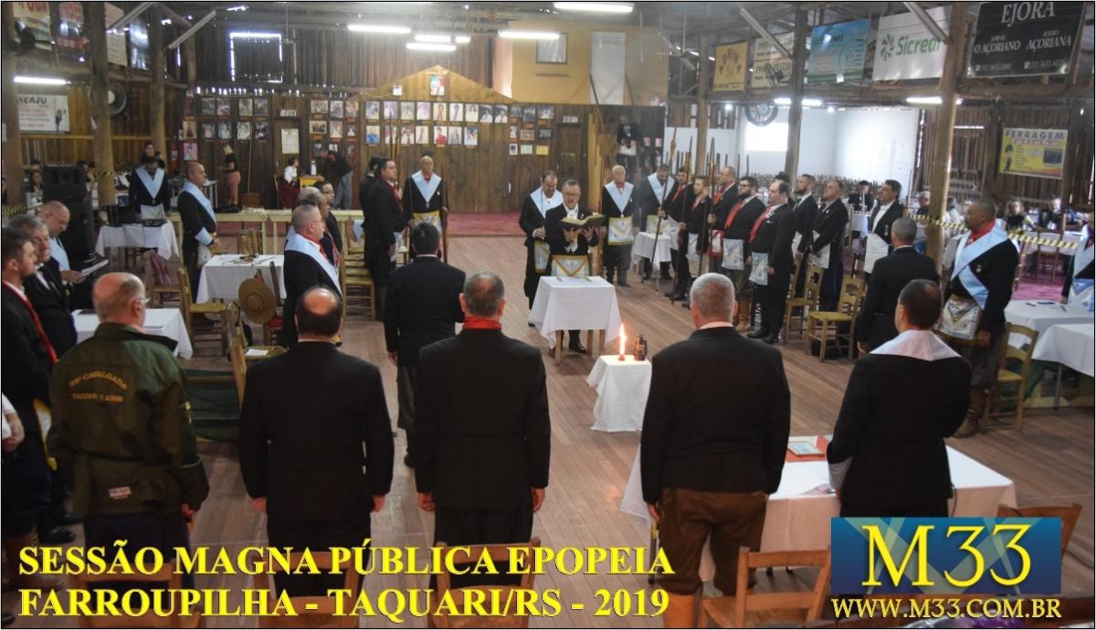 SESSÃO MAGNA PÚBLICA EPOPEIA FARROUPILHA - TAQUARI AGO/2019 PARTE 2
