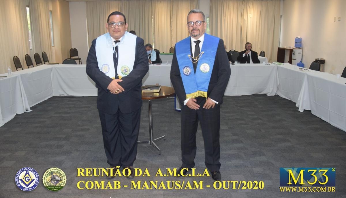 REUNIÃO ACADEMIA MAÇÔNICA DE LETRAS, CIÊNCIAS E ARTES - AMCLA - COMAB - MANAUS/AM - OUT/2020