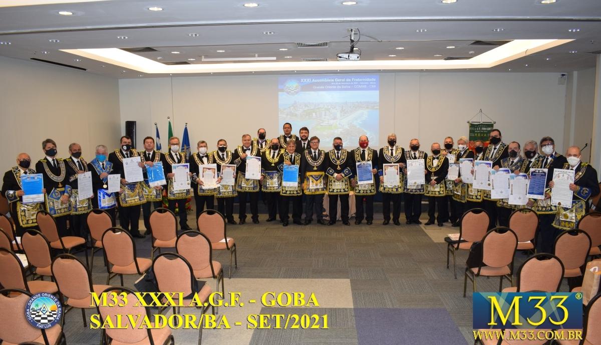 XXXI ASSEMBLEIA GERAL FRATERNA DO GRANDE ORIENTE DA BAHIA - GOBA - SALVADOR/BA - SET/21 - 1 TRATADOS PARTE 5