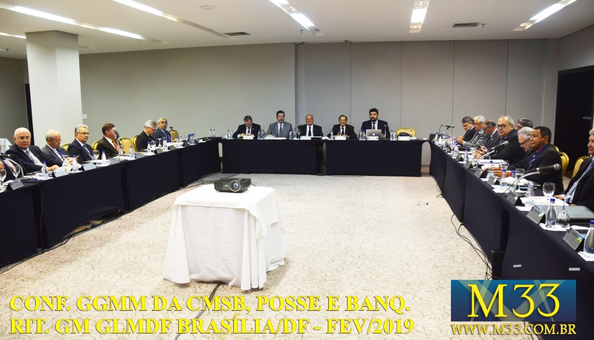 Conferência GGMM CMSB, Posse GM e Banquete Ritualístico GLMDF Fev 2019 Part1