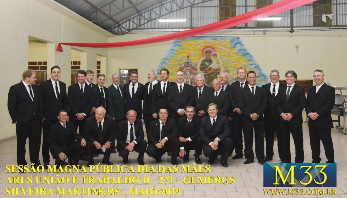 Sessão Magna Pública Dia das Mães 2019 - Loja União e Trabalho II - 271 - GLMERGS - Silveira Martins/RS Parte 2