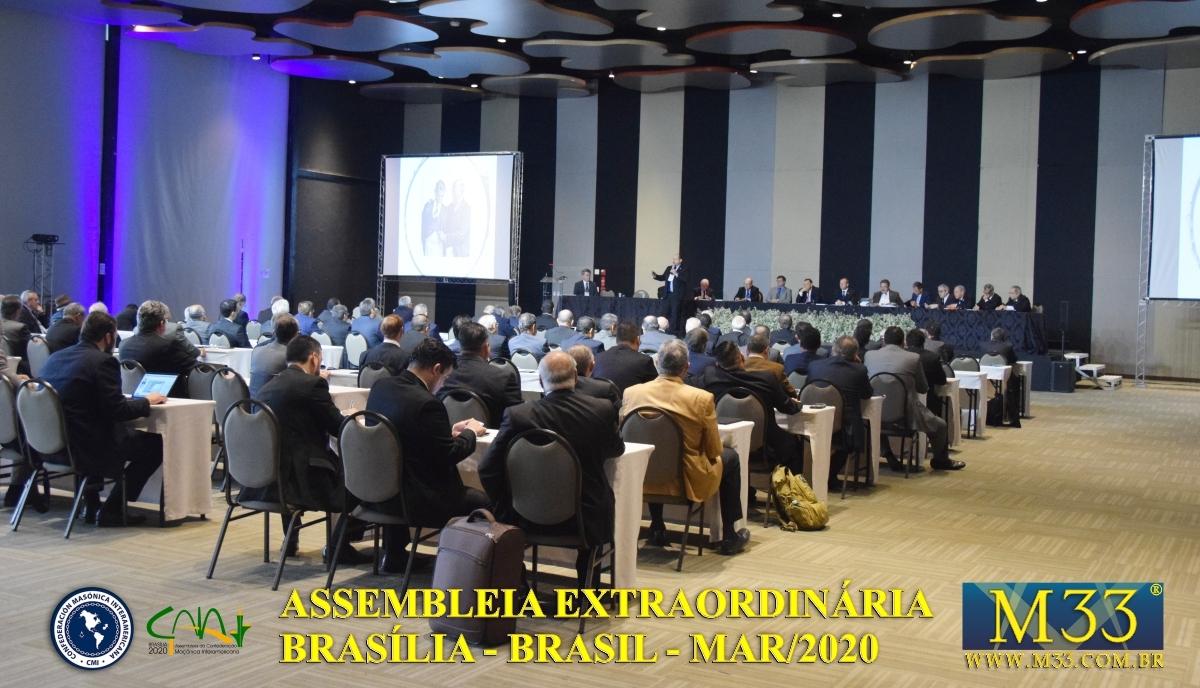 Assembleia Extraordinária da Confederação Maçônica Interamericana CMI Brasília Brasil - Março 2020 Parte 08 Palestras