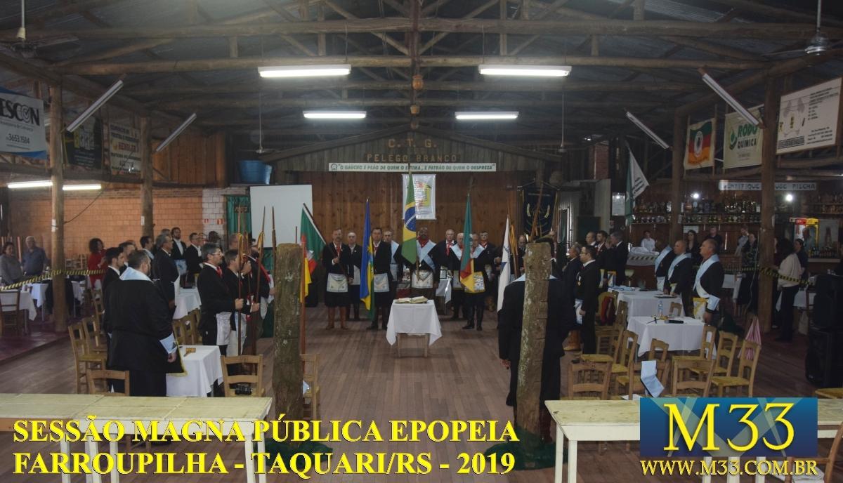 SESSÃO MAGNA PÚBLICA EPOPEIA FARROUPILHA - TAQUARI AGO/2019 PARTE 1