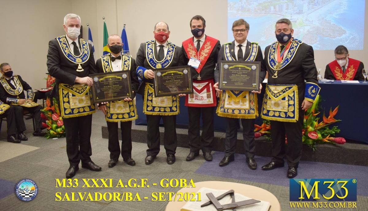 XXXI ASSEMBLEIA GERAL FRATERNA DO GRANDE ORIENTE DA BAHIA - GOBA - SALVADOR/BA - SET/21 - 2 ABERTURA PARTE 5