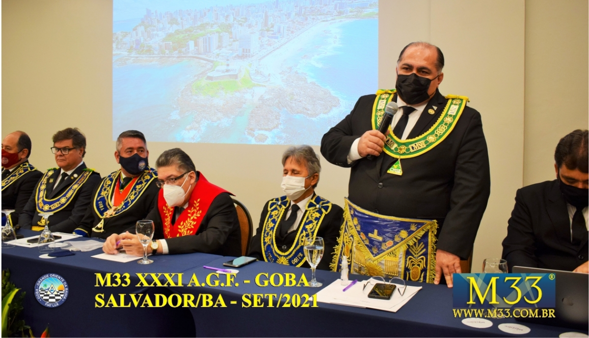 XXXI ASSEMBLEIA GERAL FRATERNA DO GRANDE ORIENTE DA BAHIA - GOBA - SALVADOR/BA - SET/21 - 2 ABERTURA PARTE 6