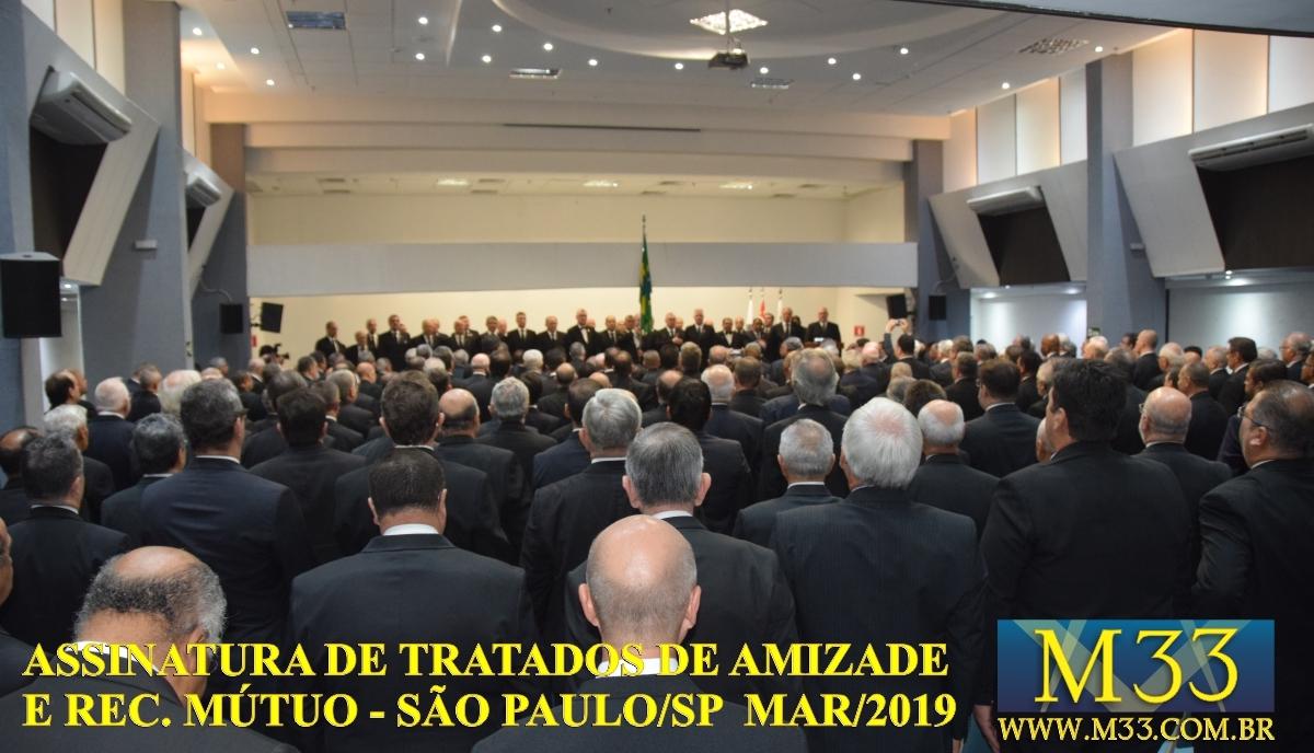 Assinatura de Tratados de Amizade e Reconhecimento Mútuo - São Paulo SP - Março 2019 Part 1