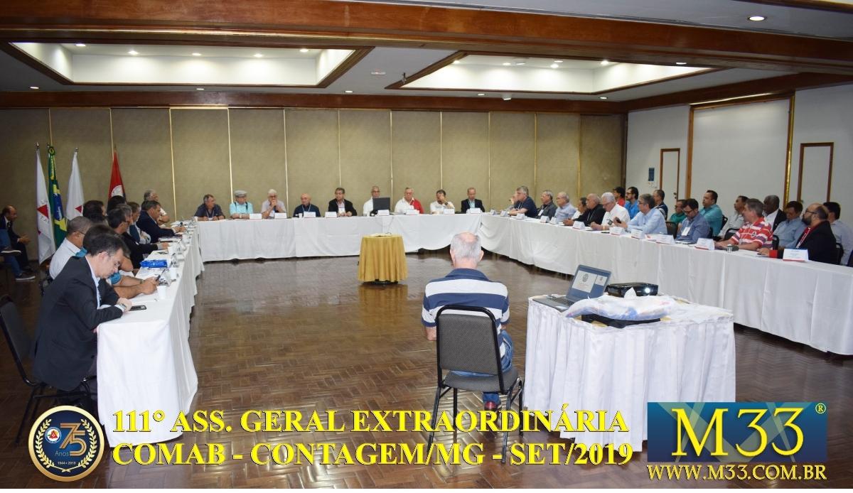 111ª ASSEMBLÉIA GERAL EXTRAORDINÁRIA COMAB - CONTAGEM/MG - SET/2019