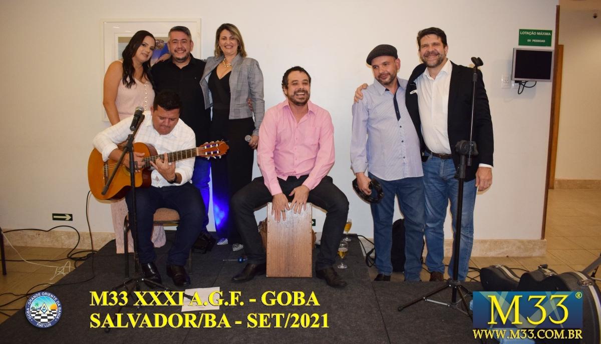 XXXI ASSEMBLEIA GERAL FRATERNA DO GRANDE ORIENTE DA BAHIA - GOBA - SALVADOR/BA - SET/21 - 4 JANTAR GOBA