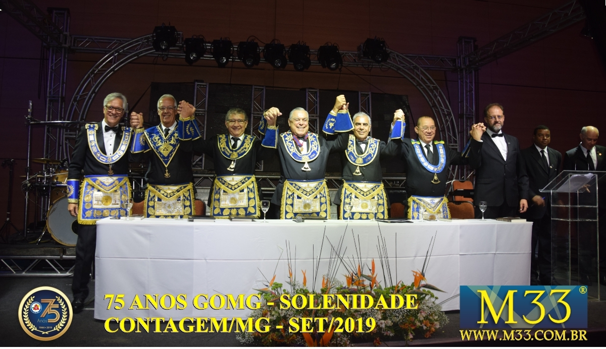 SOLENIDADE DOS 75 ANOS DO GRANDE ORIENTE DE MINAS GERAIS - GOMG - SET/2019 PARTE 07