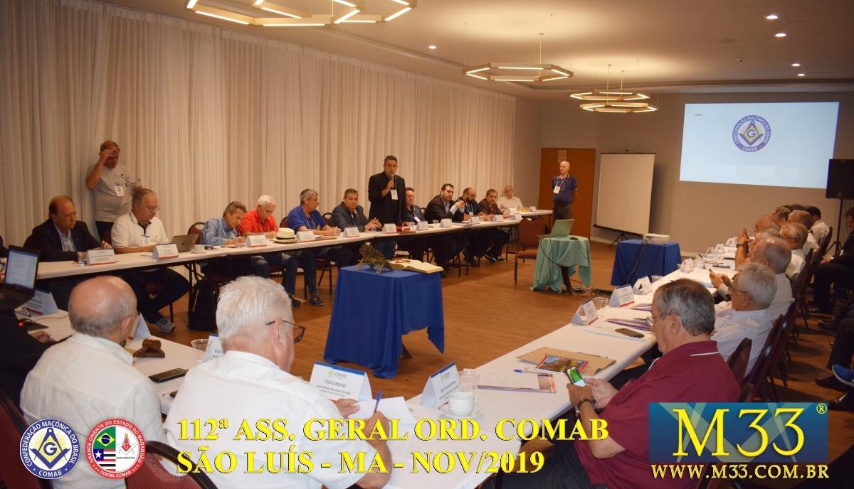 112ª ASSEMBLEIA GERAL ORDINÁRIA COMAB - SÃO LUÍS/MA NOV/2019 PARTE 2