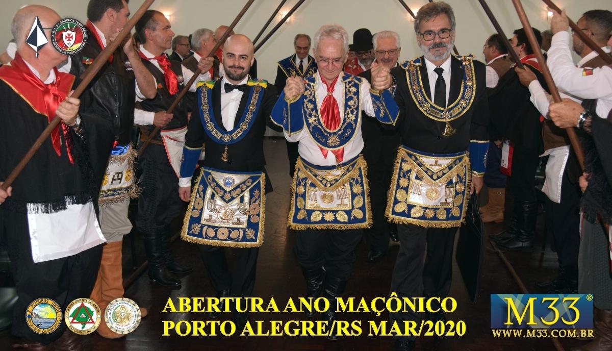 Abertura Ano Maçônico 2020 Banquete Ritualístico - Porto Alegre/RS Parte 5