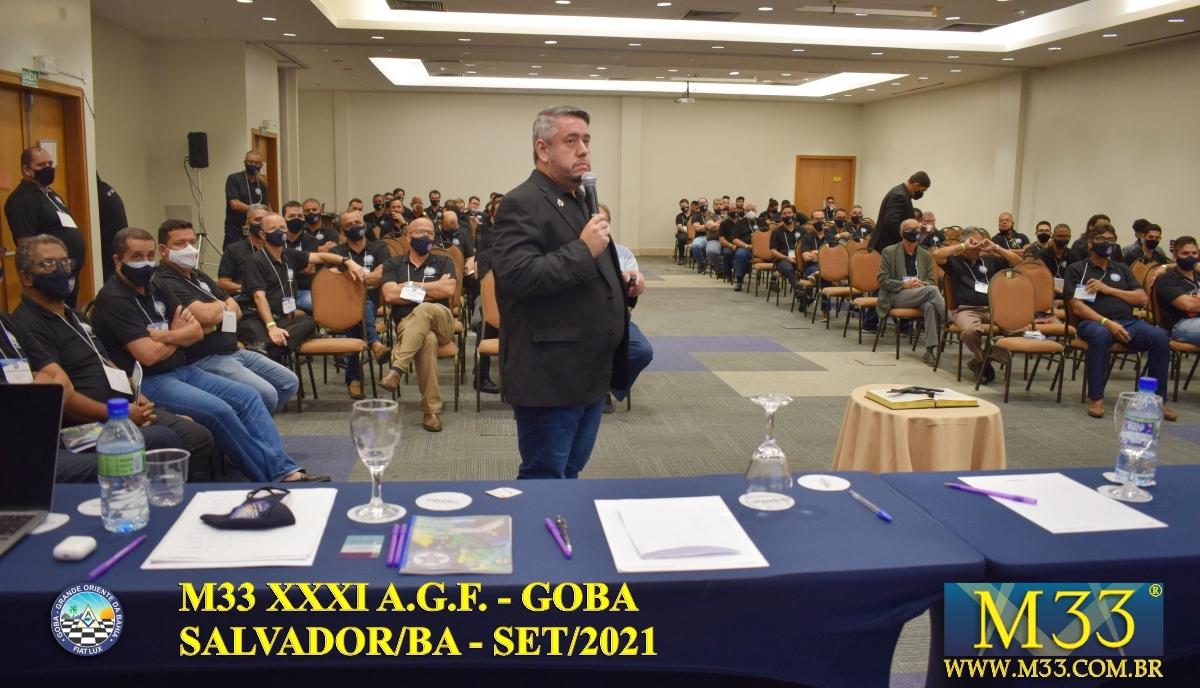 XXXI ASSEMBLEIA GERAL FRATERNA DO GRANDE ORIENTE DA BAHIA - GOBA - SALVADOR/BA - SET/21 - 3 PLENÁRIA GOBA PARTE 2