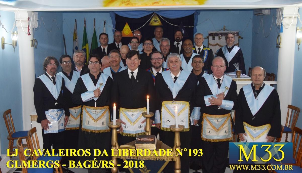 Loja Cavalheiros da Liberdade n 193 - GLMERGS - Sessão Solene - Bagé/RS