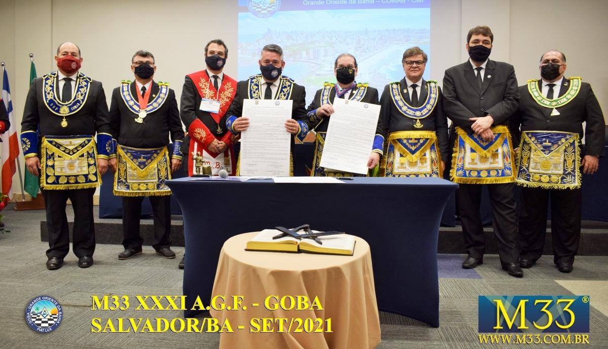 XXXI ASSEMBLEIA GERAL FRATERNA DO GRANDE ORIENTE DA BAHIA - GOBA - SALVADOR/BA - SET/21 - 2 ABERTURA PARTE 3